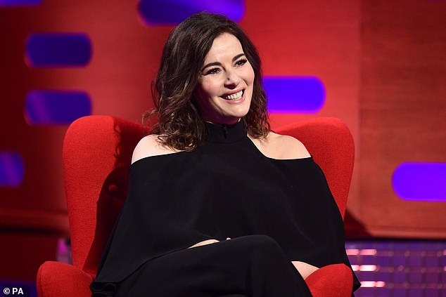 Pleasure: Nigella added that after reaching a 'certain age' in life, she liked to 'lie flat' in her house and stick with a 'baggy black thing' wardrobe '(photo from 2020)