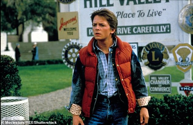 First reaction:The Back To The Future star, 59, said his first reaction to his diagnosis in 1991 at the age of 29 was to 'double up on his drinking' (pictured in Back To The Future, 1985)