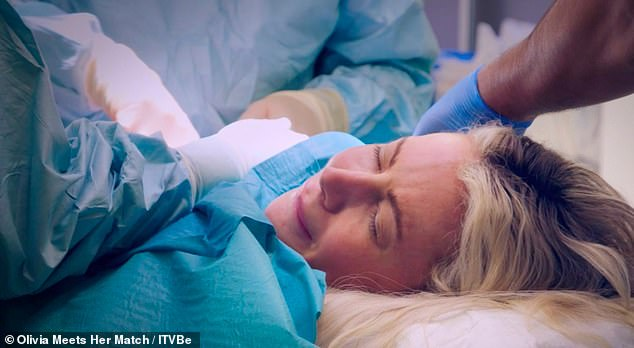 Procedure: Earlier in the episode,Olivia had to hold back tears as she had a non-cancerous lump on her right breast removed while under local anaesthetic