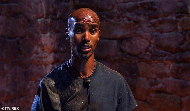 Deflated:I'm A Celebrity's Mo Farah admitted he was 'disappointed' in himself after bagging an impressive nine stars during his very first solo trial on Friday