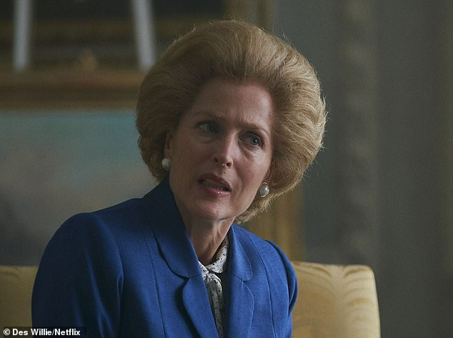 The character who dooms the entire enterprise is Gillian Anderson's Margaret Thatcher. When she first hove into view as the Iron Lady, I burst out laughing
