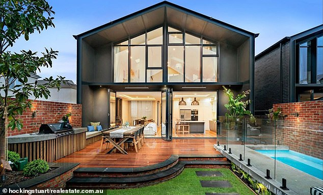 Investment: Earlier this year, the comedian listed the five-bedroom home (pictured) for rent at $2,000 per week