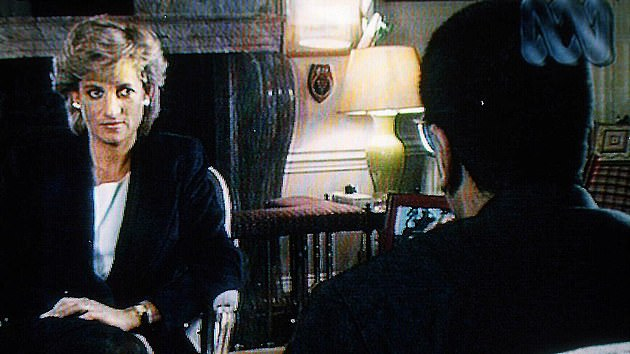 Diana, Princess of Wales, during her world exclusive Panorama interview with Martin Bashir for the BBC on November 20, 1995