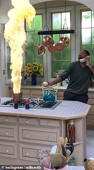 Masterchef: In the season six episode, entitled Burnin' Down The House, Will attempts to flambé, after finding that he's home alone with nobody to do it for him
