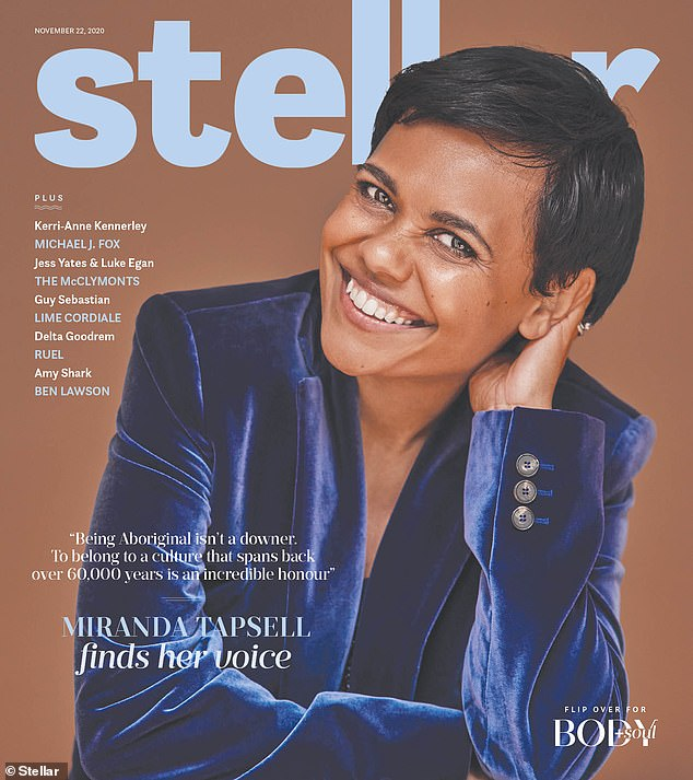 The Love Child star told this week's issue of Stellar: 'We're living in a very interesting time. People have to make a decision on what side of history they want to be on. Do they want to care about other people? Or do they just want to look out for themselves?'