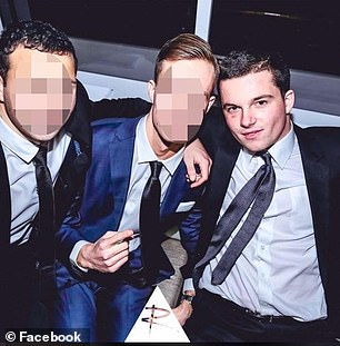 Hugo Ball, 22, (pictured right) was found with multiple stab wounds after an alleged dispute with his mother Samantha Palmer, 55, at their Bellevue Hill home in Sydney's East