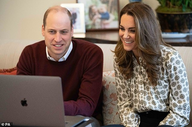 The Duke and Duchess  of Cambridge spoke to fathers from the living room of Apartment 1A in Kensinton Palace. William voiced concerns about fathers who 'just don't know what to do'