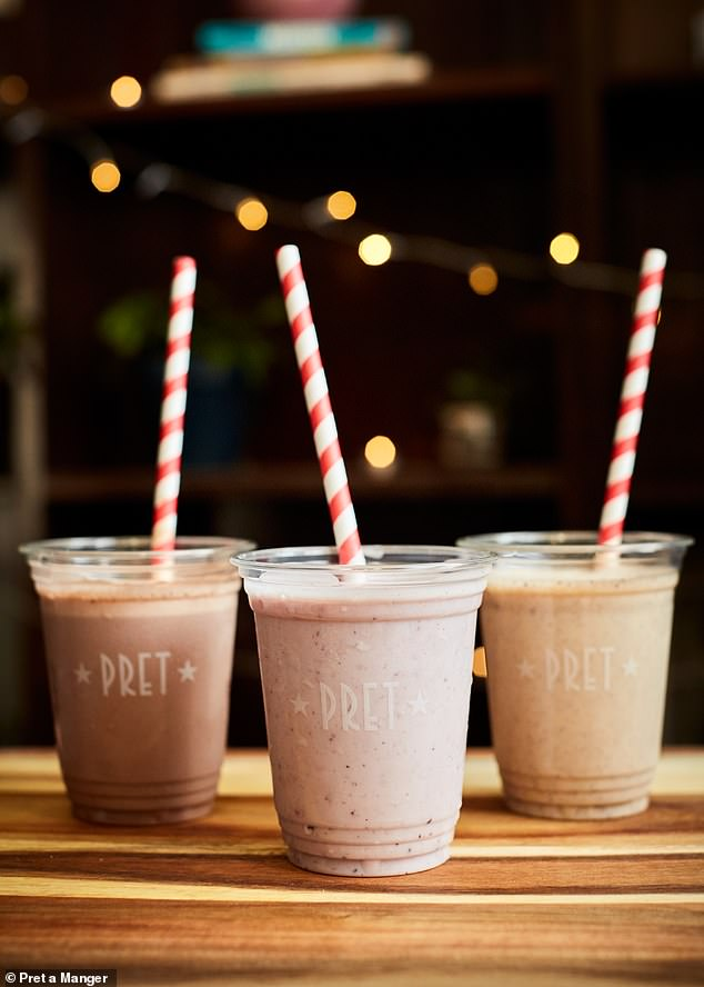 Rounding out the freshly prepared dinners range are three indulgent milkshakes to make staying in more enjoyable. For pudding enjoy either Pret's Chocolate shake, 5 Berry shake made with Pret's famous five berry compote or the Chocolate Chunk Cookie shake, which blends a whole freshly baked chocolate chunk cookie into a creamy after dinner desser