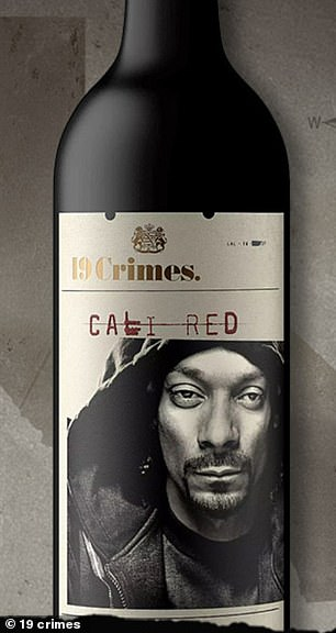 Taking the top spot was 19 Crimes Red, an Australian red blend from a brand that collaborates with celebrities including Snoop Dogg for trendy bottles