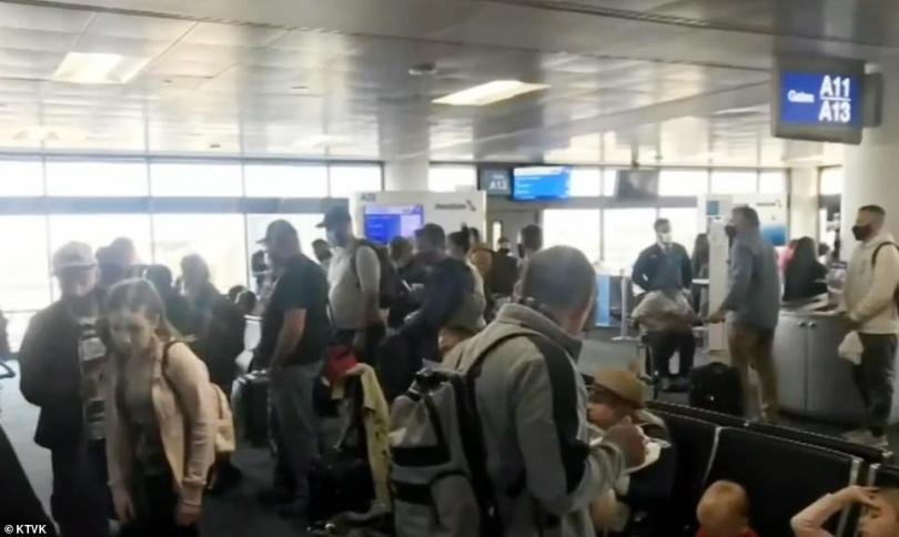 PHOENIX: Passenger Ed Westerfield shared footage of travelers at the terminal as he boarded a flight to Puerto Vallarta