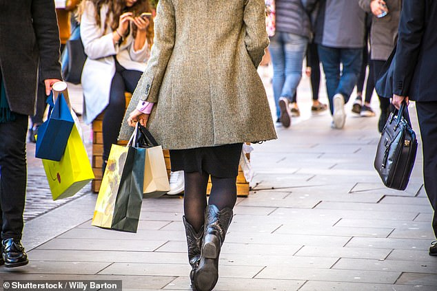 Chaos: Crowds of shoppers in Wales raises the prospect of havoc on English high streets when lockdown lifts
