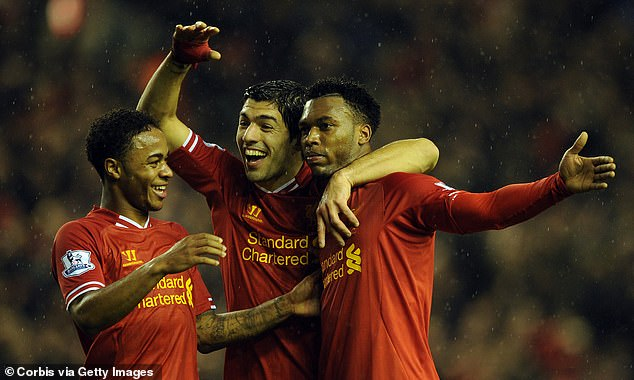 Raheem Sterling (L), Luis Suarez (C) and Daniel Sturridge (R) played 'out of this world' football