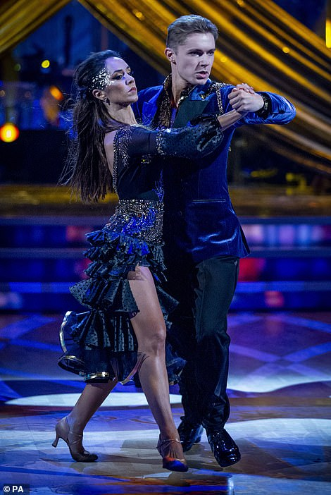 Sultry: HRVY was praised for his 'powerful' tango by Craig, as Shirley told him he has the potential to be a 'king of the ballroom' and knock Anton off his podium - a remark Anton seemed a little irked by