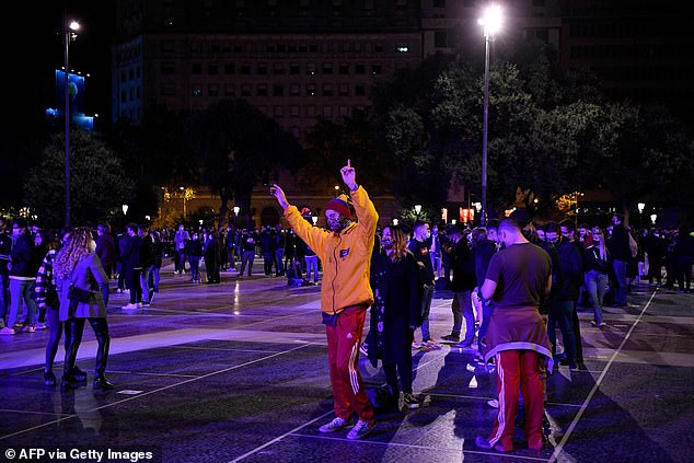 Starting Monday, the regional government will allow bars and restaurants to reopen, although only until 9.30pm and with a 30 per cent cap on indoor capacity. But those who couldn't wait took to the streets tonight