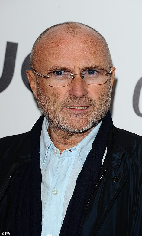 Lawyers for Phil Collins (pictured) have called allegations launched by Orianne Cevey false and defamatory