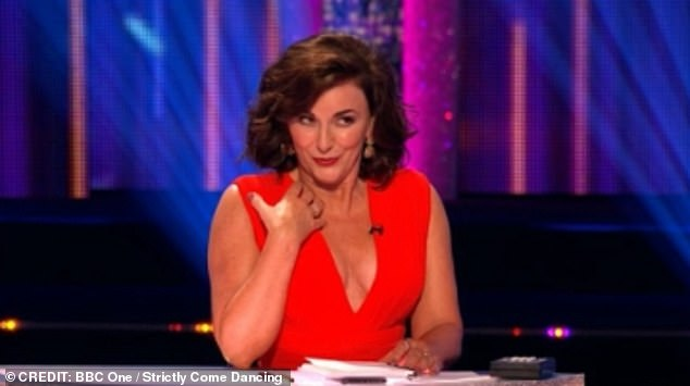 Puckered lips: The head judge, 60, could not help but gush about how the Strictly stars 'almost kissed each other' during the incredibly intimate routine