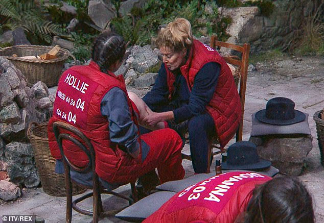 Name-drop: Beverley Callard did not shy away from telling her fellow campmates that she used to train with Arnold Schwarzenegger during Friday night's episode
