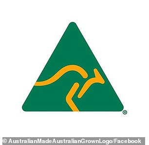 The green and gold logo signifies products that contain Australian ingredients or has undergone production in Australia