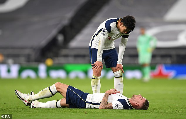 The Tottenham defender was substituted late in the day on Saturday with a 'muscular injury'