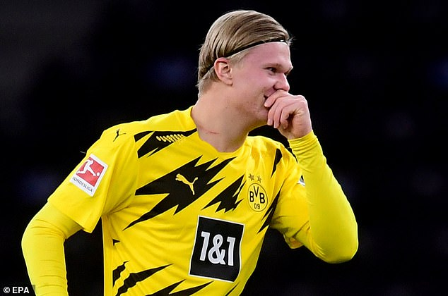 Haaland struck twice in a matter of minutes before going on to put the game beyond Hertha