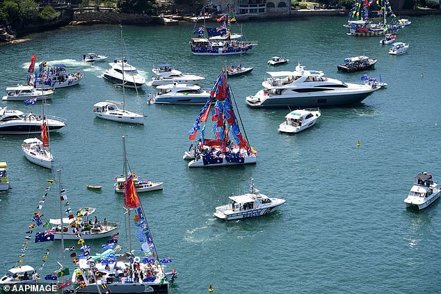 Several large-scale events have been completely called off (Sydney Harbour pictured in 2019)