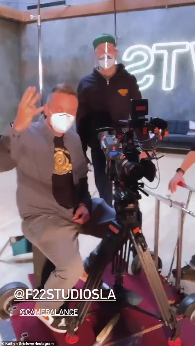 All on film: The dynamic duo were in the company of a few cameramen as they worked through their moves and discussed the upcoming season finale