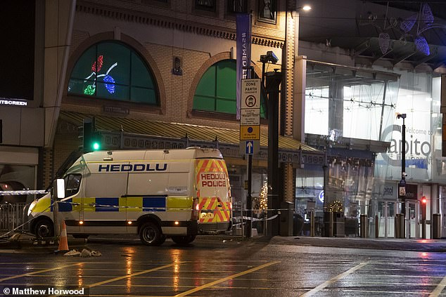 """The force received multiple reports of a """"large disturbance"""" on Queen Street at around 9.50pm on Saturday and two people have been arrested on suspicion of violent disorder and are currently in custody in Cardiff Bay"""