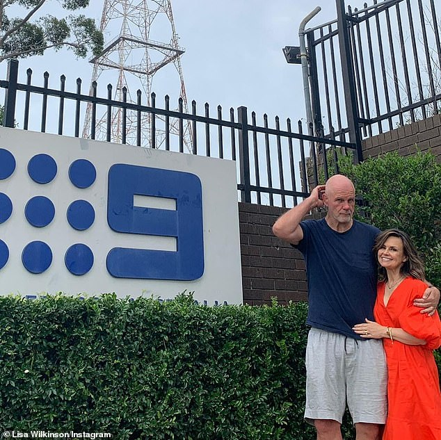Power couple: It comes after Lisa reflected on nearly 30 years of marriage with husband Peter FitzSimons, 59, (both pictured), in a heartfelt Instagram post last month