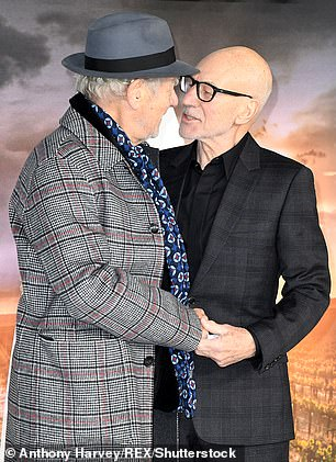 Fans were delighted when fellow actor Sir Ian McKellen snuck into the thread alongside Sir Patrick (pictured together in 2020)