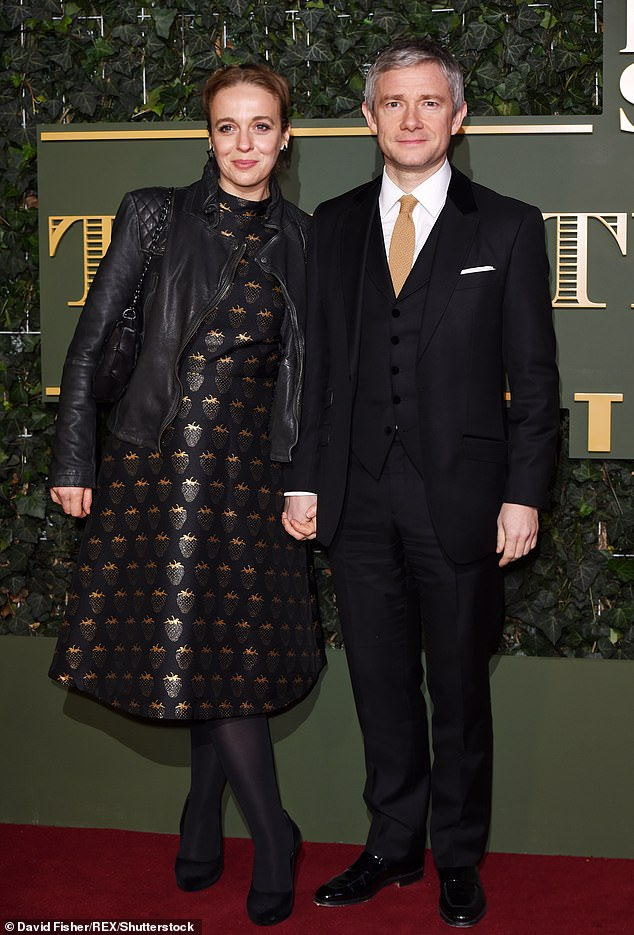 Former partner: The Black Panther star split from his long-term girlfriend and the mother of his two children, Amanda Abbington, in late 2016 after a 16-year romance (pictured in 2015)