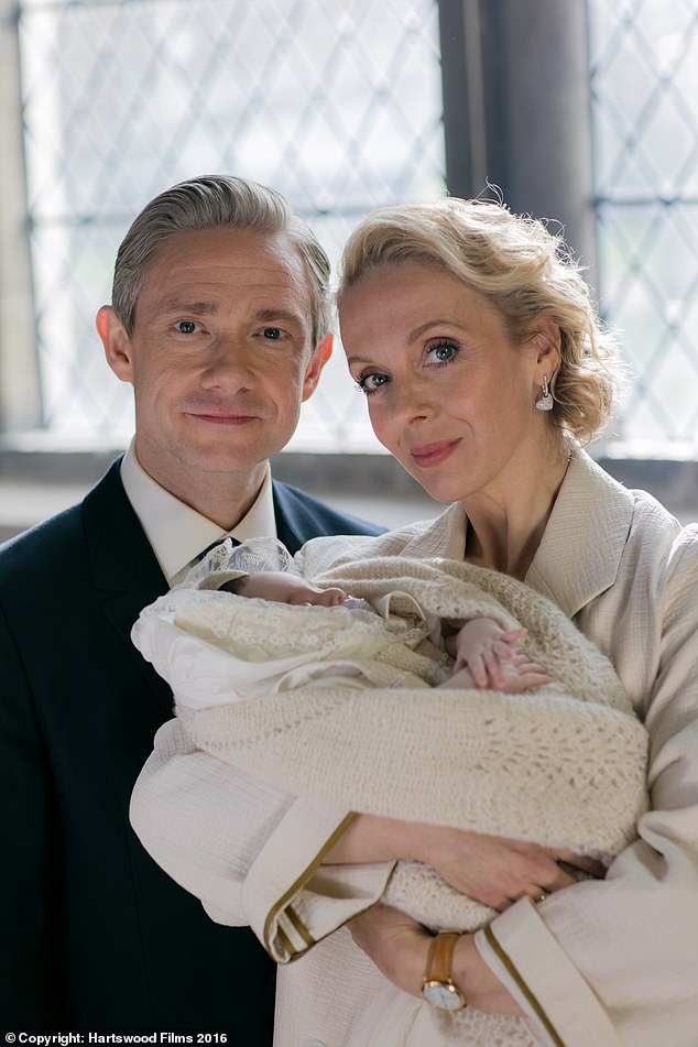Co-stars: Sherlock stars Martin and Amanda, 46, starred as on-screen couple Dr. John Watson and Mary Watson in the BBC series (pictured in 2016's season after their split)