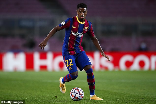 Manchester United agreed a deal worth £133million for Ansu Fati with his agent Jorge Mendes