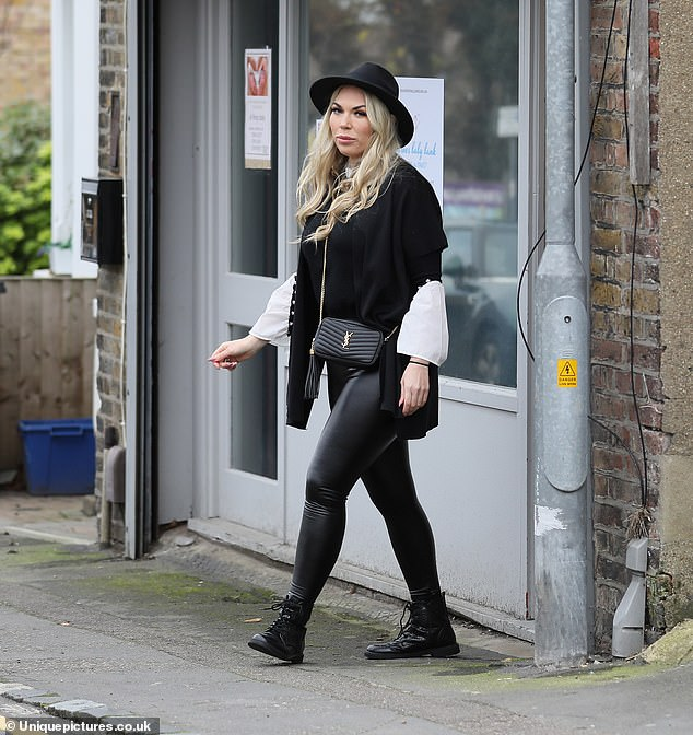 Beautiful!Frankie Essex looked stunning in an all-black outfit as she volunteered for a baby charity in Essex on Saturday