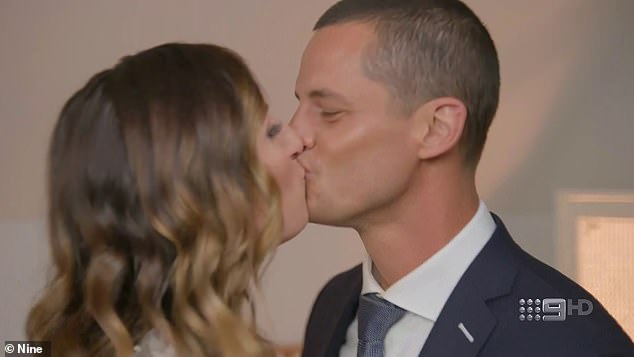 Sealed with a kiss: As the offers climbed, the couple began to think emotionally about how their mortgage would be paid off