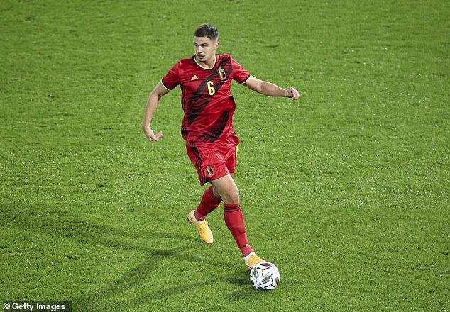 Leander Dendoncker in action for Belgium during last week's friendly with Switzerland