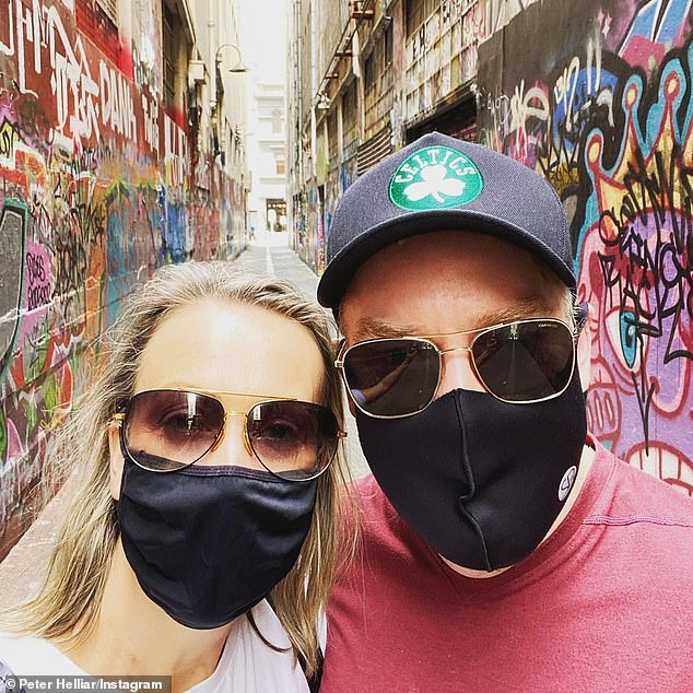 Milestone: Peter Helliar, 45, paid loving tribute to his wife Bridget as they celebrated their 17th wedding anniversary on Sunday [both pictured]
