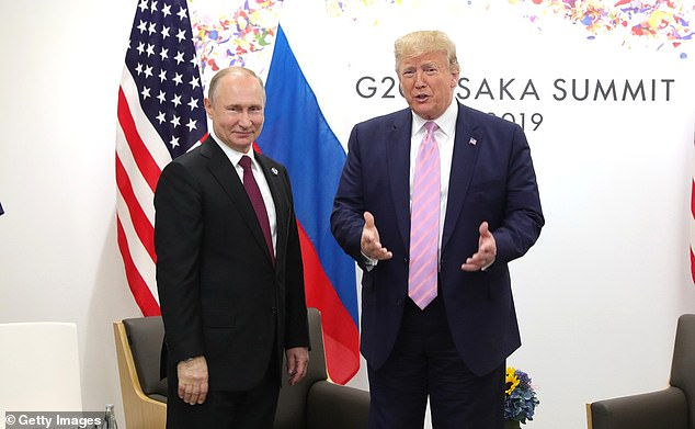 When Trump (pictured with Putin in June 2019) won in 2016, Putin was prompt in offering congratulations — but Trump's challenger in that election, Hillary Clinton, also conceded the day after the vote. Trump has yet to concede