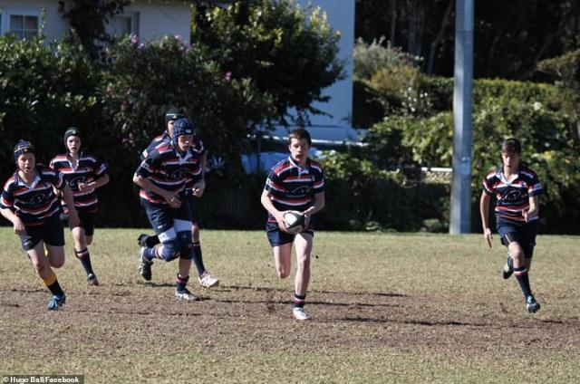 Ball appeared a keen football player at school-level over the course of several years, proudly sharing his achievements to social media while also cheering on the Sydney Roosters and New South Wales team during State of Origin