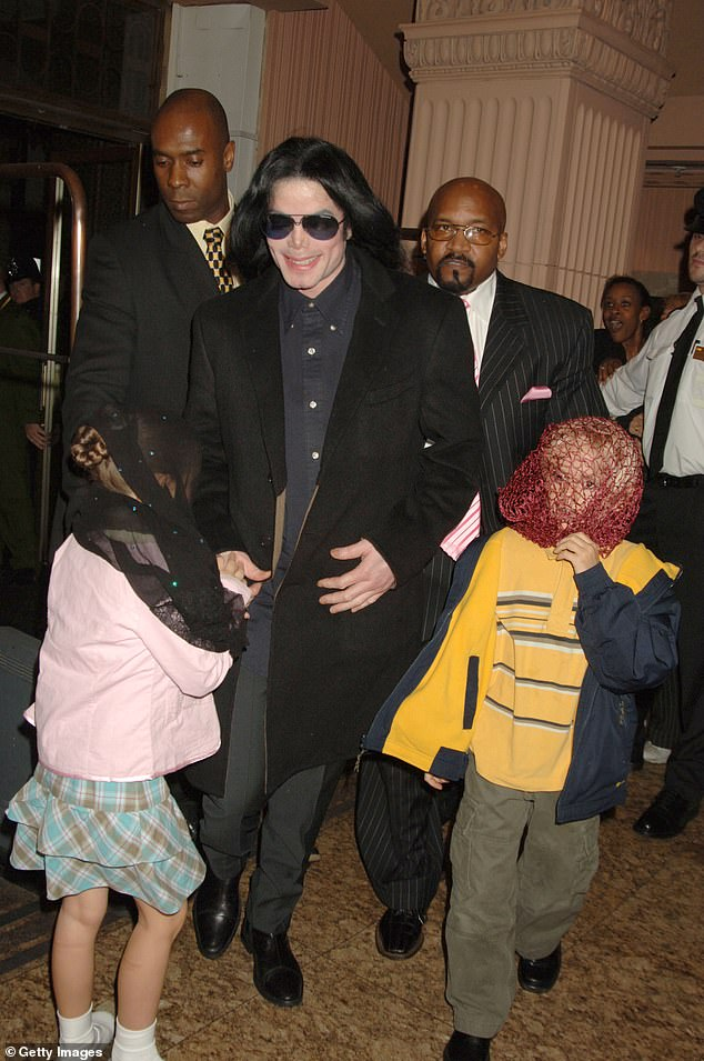 He's following in the footsteps of his late father Michael Jackson, a noted philanthropist; Jackson seen with his oldest children (L-R) Paris and Prince in 2005
