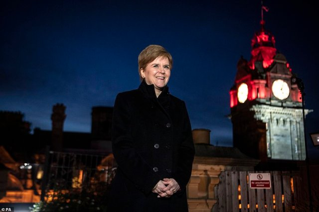 Cabinet Office Minister Michael Gove had talks with Scottish First Minister Nicola Sturgeon (above) and her Welsh and Northern Irish counterparts yesterday, the Cabinet Office revealed this afternoon