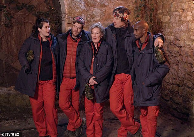 Wanted more: Although it wasn't a new update from the camp, viewers were treated to a few unseen clips during the show (pictured Hollie Arnold, Jordan North, Beverley Callard, Vernon Kay and Mo Farah)