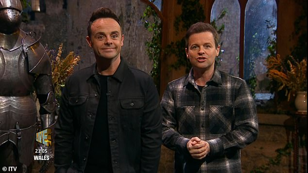 Wow! Ant and Dec made it abundantly clear that they had seen the furore, with Ant hinting that someone told him to f**k himself as he quipped: 'Medically I can't do that to myself!'