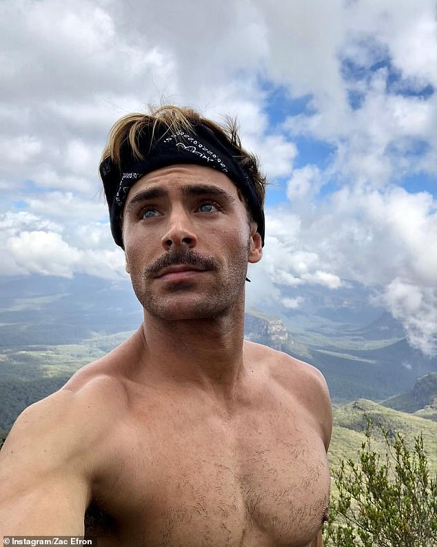 Movie star commitments: Zac arrived in South Australia two weeks ago to commence filming for the new Stan Original movie, Gold, which will be shot in the Australian outback. Production on the movie has since been halted after Adelaide was declared a coronavirus hotspot