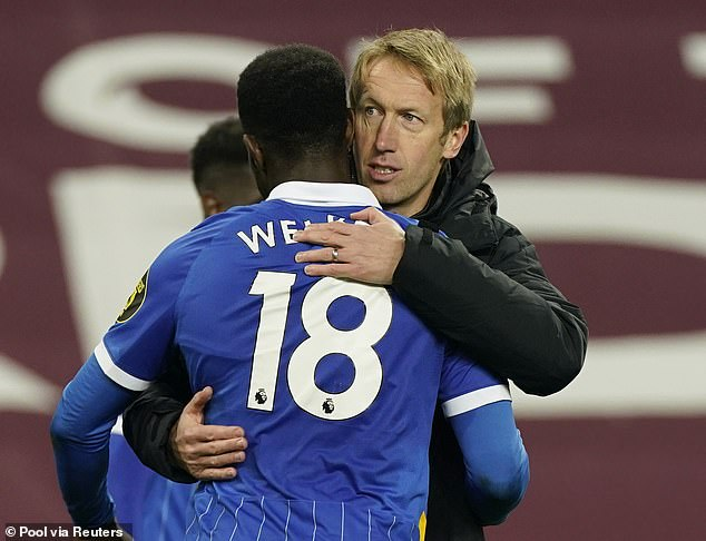 Brighton manager Graham Potter has been impressed by the impact Welbeck has had so far