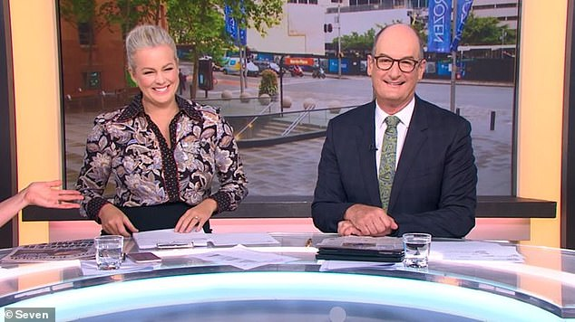 What do you think? While Kochie (pictured with co-host Samantha Armytage) thought Edwina's sneeze sounded like a quick and high-pitched version of the word 'knee', Mark believed it was 'like hearing a snow leopard sneeze, cough or growl'