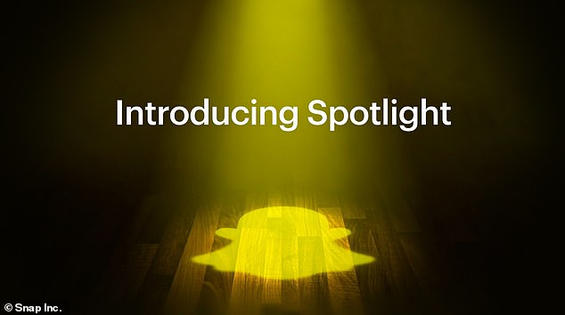 Snap Inc said: 'Spotlight will be defined by our community - how they see it, what they create and the stories they tell