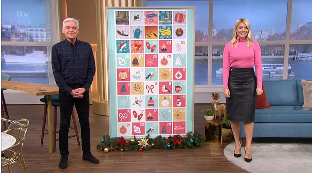 She's back:On Monday's show, Holly opened the show with her usual banter with Phillip Schofield, as they counted down to Christmas but there was no mention of her absence