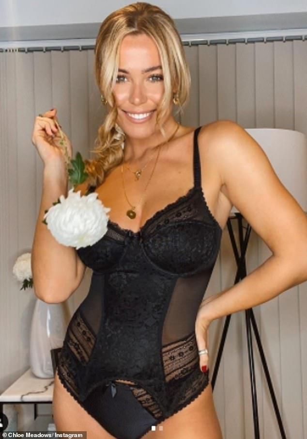 TOWIE's Chloe Meadows send temperatures soaring in a black bustier