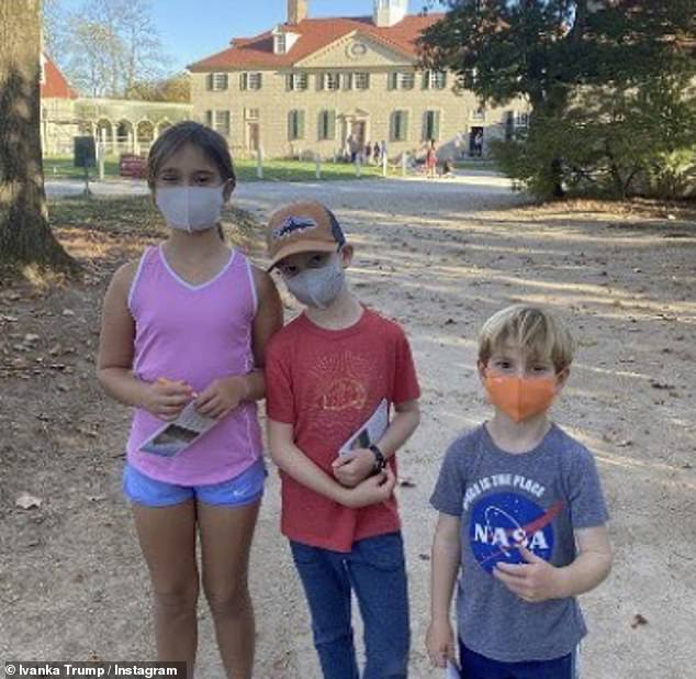 Ivanka Trump shares photos of her three children visiting D.C.'s memorials and monuments