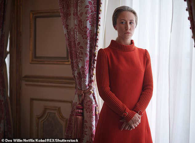 Enjoying: Erin recently revealed she 'fell in love' with Princess Anne, after playing the royal in the hit Netflix series